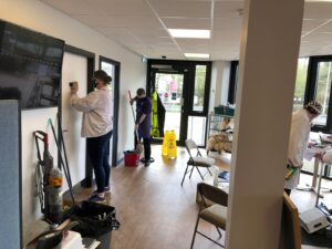 Staff and Volunteers Support Cafe Refurbishment